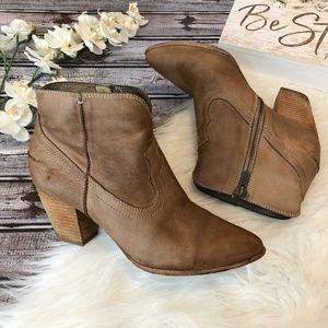 Frye Ankle Boots RENEE Short Seam Cowboy, 9.5